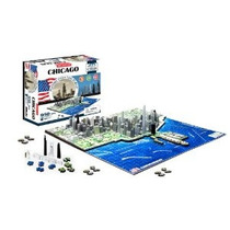 4d Paisaje Urbano Del Horizonte De Chicago Puzzle