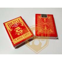 Baraja Bicycle Red Dragon Deck Poker Magia - Akhitoy