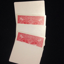 5 Cartas Bicycle Gaff En Blanco