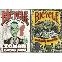 2 Mazos De Cartas Poker Bicycle Zombie Y Everyday Zombies