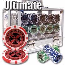 Poker Estuche Acrilico 600 Fichas Casino 14 G Mod Ultimate