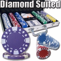 Poker Estuche 300 Fichas Casino 12.5 Grams Diamond Suited