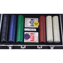 Set De Poker Estuche 300 Fichas 11.5+maletin Aluminio+mazos