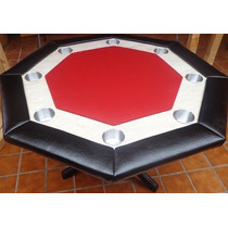 Mesa De Poker Octagonal Con Cubierta.
