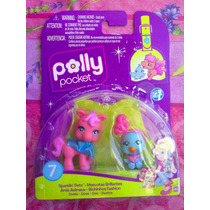 Polly Pocket Set De Mascotas Caballito Y Pajaro