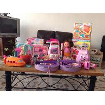 Juguetes Usados Niña Polly, Barbie, Play Doh.