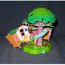2000 Polly Pocket Jungle Pets Muñequita 2 Changuitos Mattel