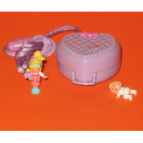 1993 Polly Pocket Baby Blanket Locket Completo Original Raro