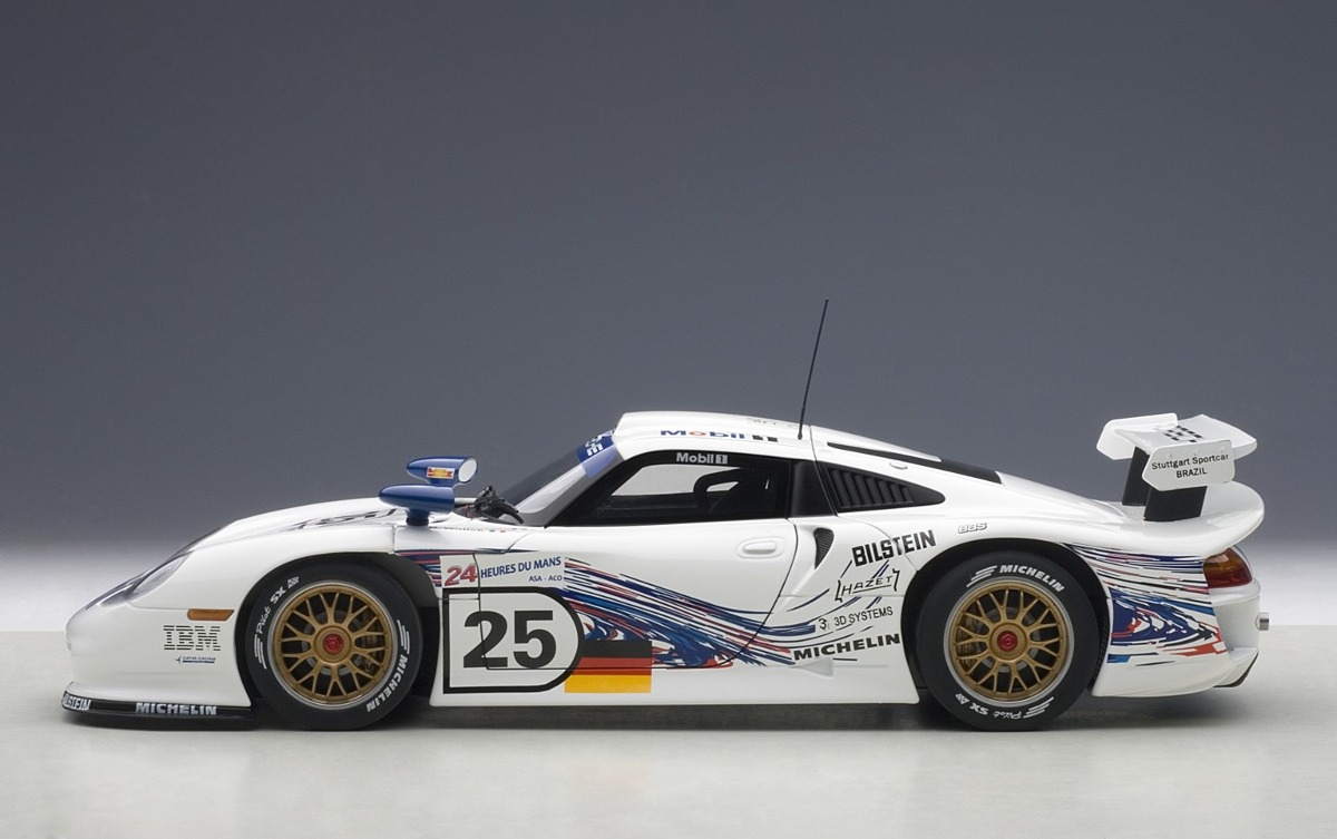 porsche 911 gt1 lm 1997 auto a escala de colecci n 4 en mercadolibre. Black Bedroom Furniture Sets. Home Design Ideas