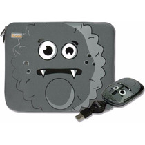 Kit Funda Y Mouse Usb Gris Perfect Choice P/ Netbook 10 Pulg