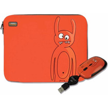 Kit Funda Y Mouse Usb Naranja Perfect Choice P/ Laptop 15.4
