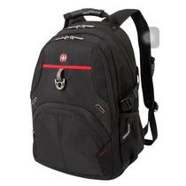 Mochila Backpack Swissgear 15 Negro Rojo
