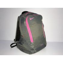 Mochila Nike Air Max Gris Con Rosa Usada Para Lap Top 15 Pul