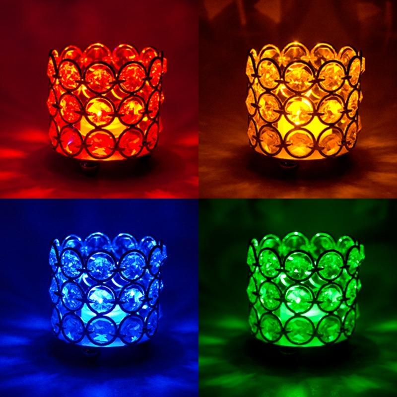 Porta velas de cristal para decoraci n y adorno de eventos - Adornos navidenos con velas ...