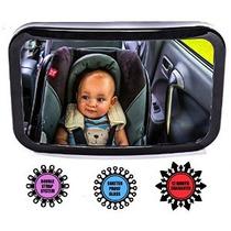 Bebé Espejo De Coche - Totalmente Ajustable Convex Amplia Vi
