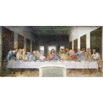 Lienzo, La Última Cena, Leonardo Da Vinci. 75 X 150 Cm