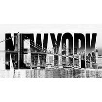 Cuadro En Lienzo Moderno, Nueva York, 80x150 Cm