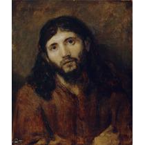 Lienzo-tela, Rembrandt, Rostro De Cristo, 73x90 Cm
