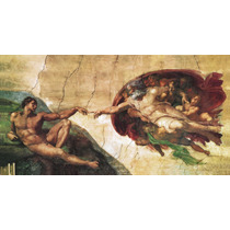 Lienzo Tela, La Creación De Adán, Miguel Angel, 80 X150 Cm.