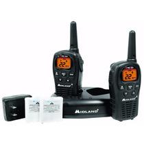Radios Midland 2 Vías Con Kit Recarga 24 Millas 22 Canales