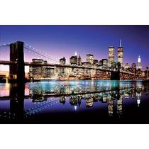 Nueva York Poster - Puente De Brooklyn Color Maxi 61cmx 91cm