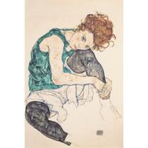 Poster 40x60 Calidad Fotografica Egon Schiele Pintura Mujer