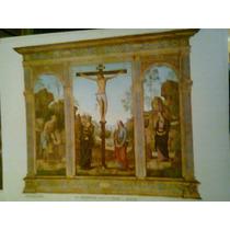 Poster De La Crucifixion Con La Virgen Y Santos