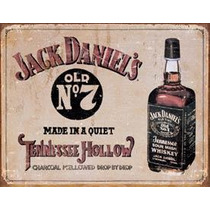 Poster Metalico Litografia Lamina Decorativa Jack Daniel