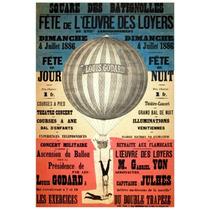 Lienzo Tela Viaje Globo Aeroestático 1886 74 X 50 Cm Poster