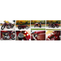 Lienzo Tela Poster Motocicleta Indian Big Chief 32 X 90 Cm