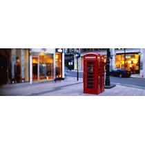 Teléfono Cabina Londres Inglaterra Unido Reino Cartel