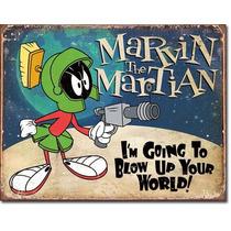 Poster Metalico Litografia Lamina Marvin El Marciano Cartoon