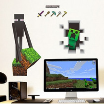 Wall Sticker Calcomanías Pared Gigantes De Minecraft