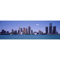 Detroit Mi Ee.uu. Cartel Impresión Panorámico Imágenes