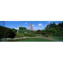 Poster (70 X 23 Cm) Suspension Bridge Golden Gate Bridge San