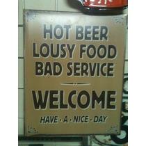 Poster Decorativo Lamina Humor De Bar Cerveza Caliente Mala