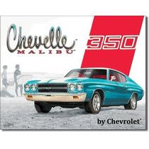 Poster Metalico Litografia Lamina Chevrolet Chevelle Malibu