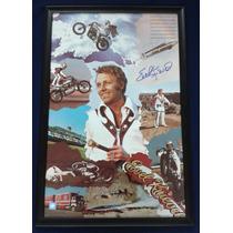 Poster Autografiado Firmado Evel Knievel Deporte Extremo