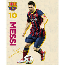 Messi Poster - Barcelona, ¿¿vintage 13 14 Mini 40x50cm