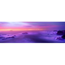 Poster (69 X 23 Cm) Fog Reflected In The Sea At Sunset