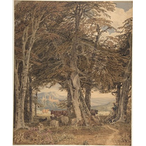 Poster (46 X 61 Cm) Cattle And Sheep At Resting At The Edge
