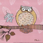 Poster (20 X 20 Cm) Pastels Owls Iii - Mini Paul Brent
