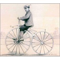 Lienzo Tela Poster Bicicleta Velocípedo Francia 1870 50x58cm