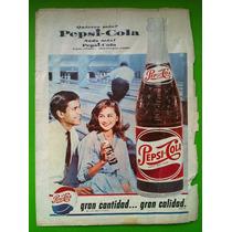 Anuncio Publicitario Pepsi 1967, Tamaño Tabloide.