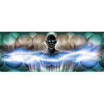Digital Hombre Cartel Impresión Panorámico Imágenes
