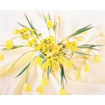 Arreglado Amarillo Flores Cartel Impresión Panorámico