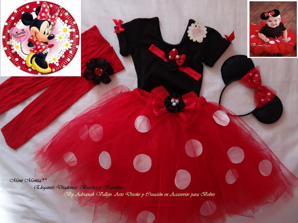 Precioso Tutu Para Fiesta Minnie Escoge Tu Color Favorito ...