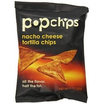 Popchips Tortilla Chips Nacho Queso De 1 Onza (paquete De 24