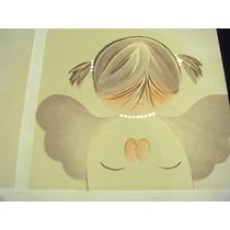 Paquete/kit Primera Comunión Con Angel Pintado A Mano