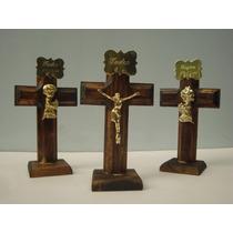 Cruces Con Figura De Bronce Y Placa Peronalizada